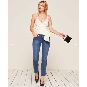 NWT Reformation Ilona Wrap Top in Ivory